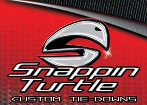 Snappin Turtle Custom Tie-Downs Logo