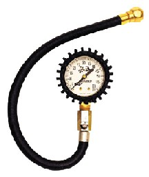 Longacre Standard Glow in the Dark Tire Gauge, 0-60 by 1 lb with Ball Chuck