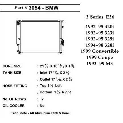 CSF Aluminum Radiator for BMW Racing E36