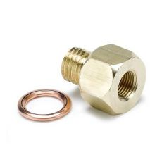 "#2277 FITTING, ADAPTER, METRIC, M12X1.5 MALE TO 1/8"" NPTF FEMALE, BRASS"