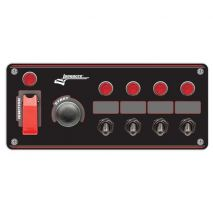 Flip-up Start / Ignition panel with 4 Accessory Switches & Pilot Lights