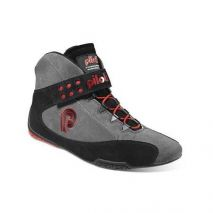 Piloti Superleggera in Gray, Black and Red Suede