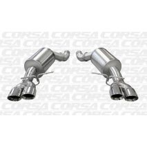"Corsa BMW 5 Series, E60 M5 SPORT 3.0"" Axle-Back Stainless Steel Exhaust, 2005 to 2010 Polished Tips"