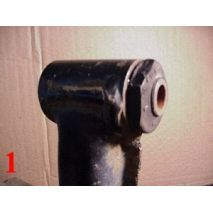To Remove Factory Bushing: Use box cutter to remove excess material around bushing.
