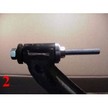 Proceed to tighten the tool until approximately 90% of the bushing is fitted.