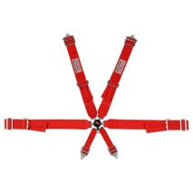 Camlock Individual Shoulder Pull-Up 6-pt Harness Set, G-Force Racing Gear - Red