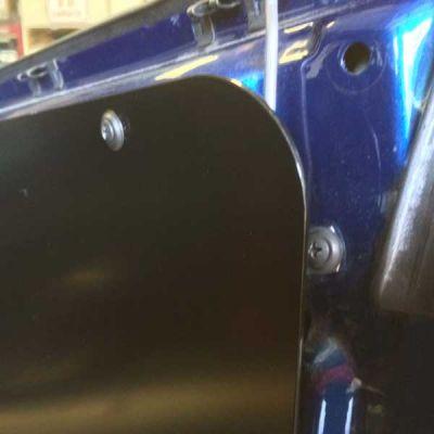Closeup of Door Panel