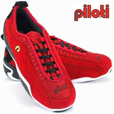 Piloti Spyder S1 in Red Suede