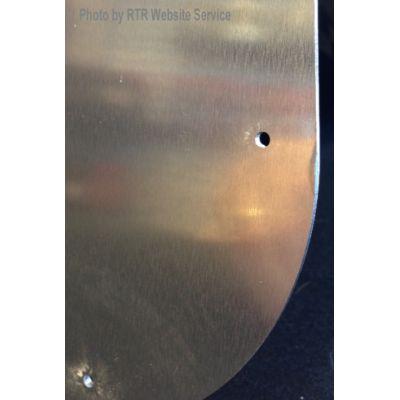 Pre-formed pop-rivet holes