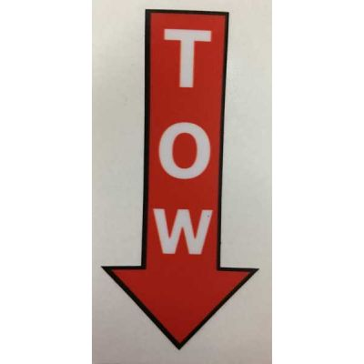 Tow arrow sticker