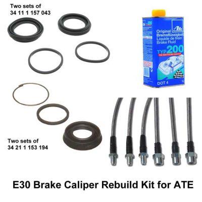 E30 ATE Brake Caliper Rebuild Kits