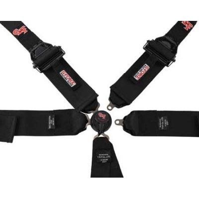 G-Force Lightweight HANS Ready 6PT Camlock Harness - Pull up lap adjustment