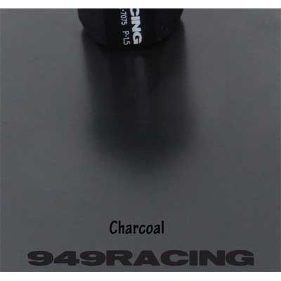 Charcoal is 50% matte black. So shinier than flat black but not full gloss.
