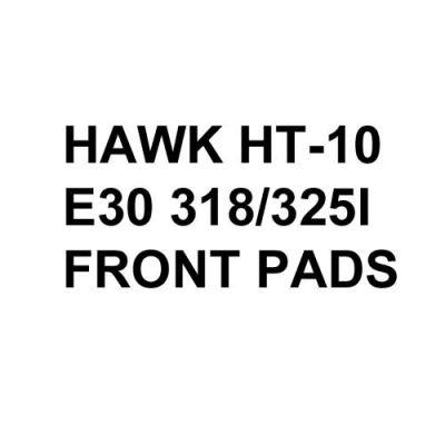 Hawk Performance HT-10 Brake Pads, BMW E30 318/325 (1984-91) [Front Pads]