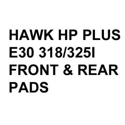 Hawk Performance HP+ Brake Pads, BMW E30 318/325 (1984-91)