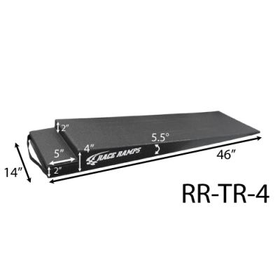 "Race Ramps Trailer Ramp, (4 Inch Height, 46"" Long, 5.5 Degree Angle)"