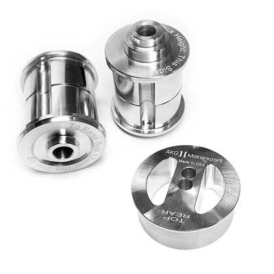 SFDS3012L, AKG Motorsport Rear Subframe and Diff Bushing Set, Aluminum, Dual Purpose for BMW 3 Series E30