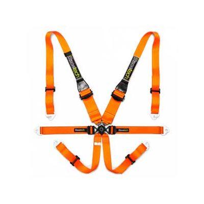 Racetech Orange GT HANS 6- point motorsport harness